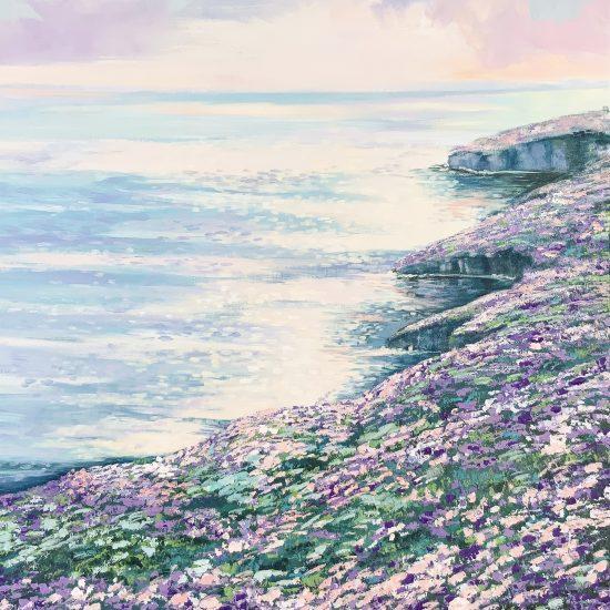 La luminosidad del Mediterraneo y las tonalidades de los colores malva hacen de Atardecer en la Playa una obra con reminiscencias impresionistas.