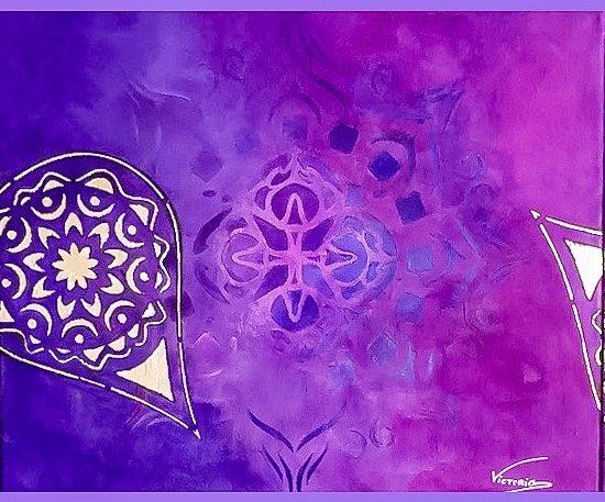 Encuentra en el Mandala Cosmos de la Coleccion Magia y Color de Victoria Pardo Artista Plastica la inspiracion para hacer de tu casa un lugar unico.