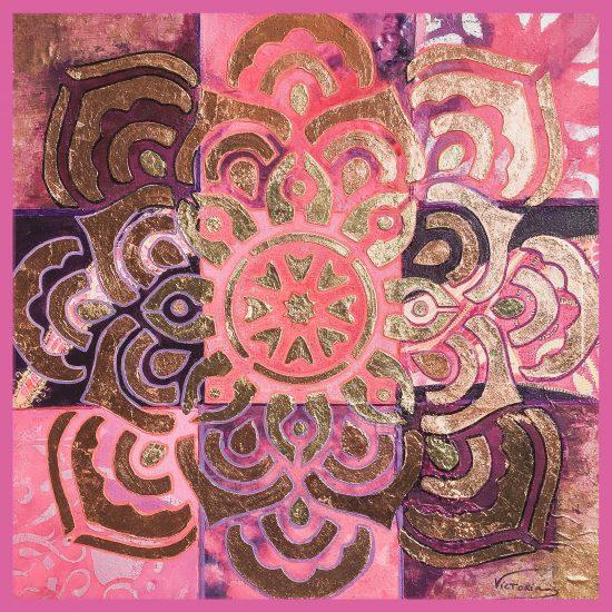 Como crearias un ambiente lleno de armonía . Te proponemos el Mandala Gracia Femenina de la Coleccion Magia y Color de Victoria Pardo Artista Plastica.