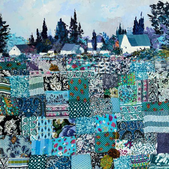 La Vida en Azul - Cuadro de la Colección Intermezzo by Victoria Pardo, Artista Plástica