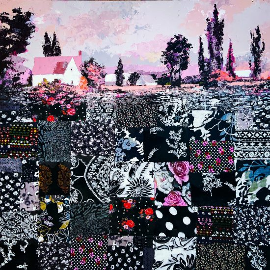 La Vida en Rosa - Patchwork - Cuadro de la Colección Intermezzo by Victoria Pardo Artista Plástica