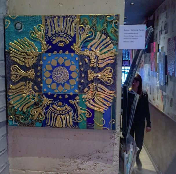 Mandala Azul -Colección Magia y Color de Victoria Pardo.