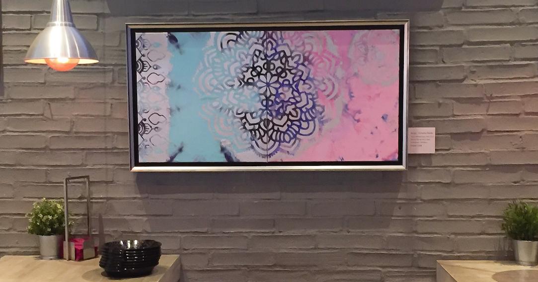 Mandala Celeste y Rosa Colección Magia y Color de Victoria Pardo