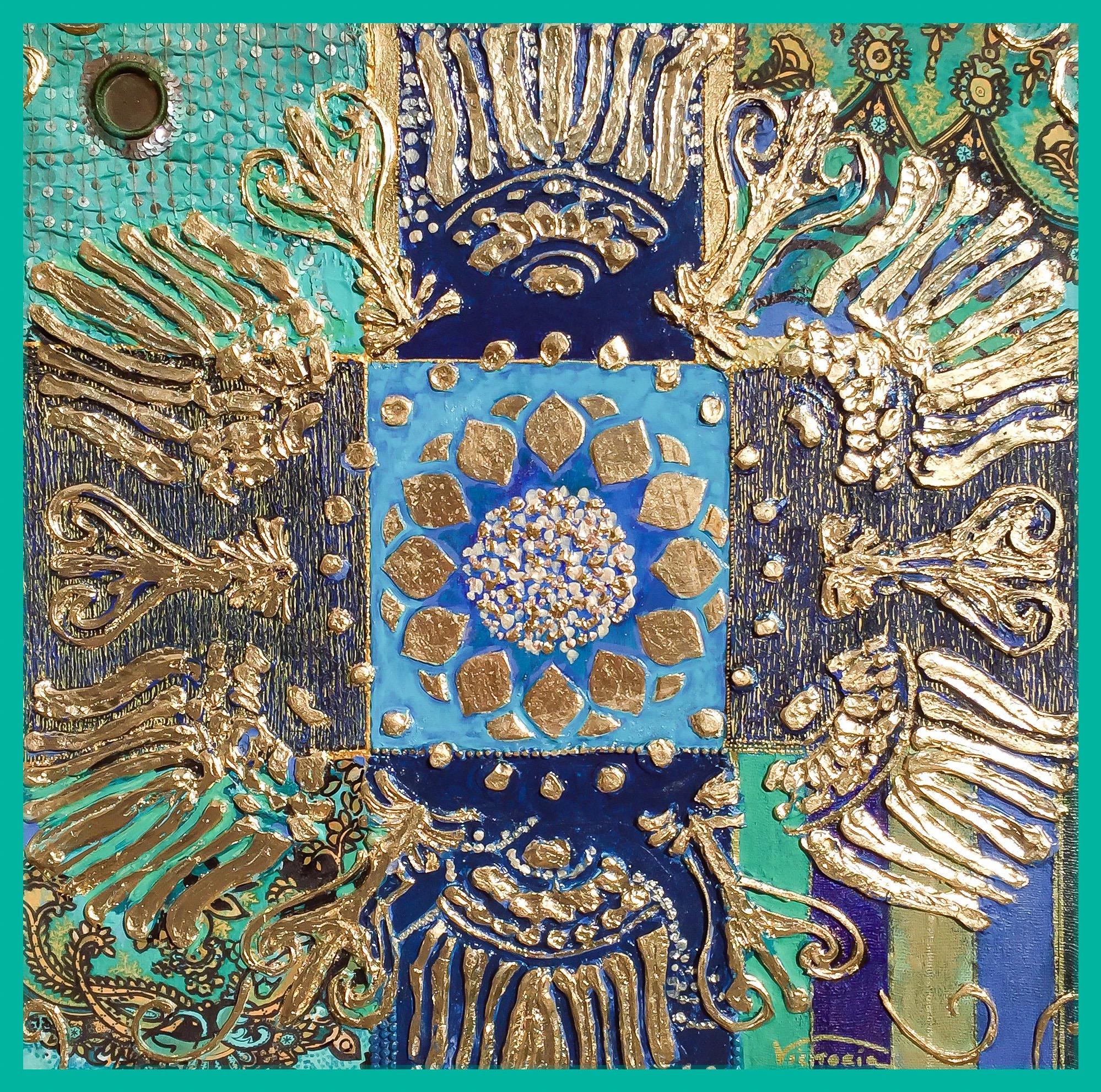 Mandala Green & Gold Colección Magia y Color – Victoria Pardo