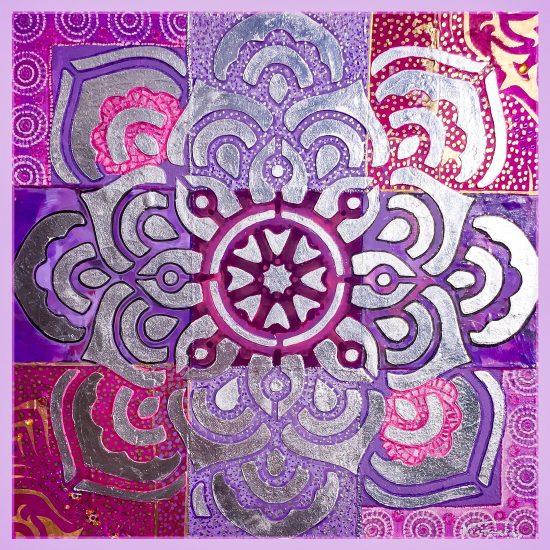 Si quieres aportar diseño y Armonia a tu hogar, el Mandala Peace of Mind de la Coleccion Magia y Color de Victoria Pardo Artista Plastica sera tu eleccion.