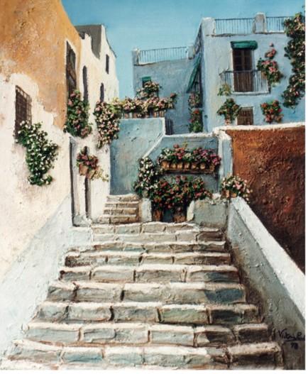En la colección Abril de Victoria Pardo Artista Plástica encontramos obras luminosas y llenas de vida como el cuadro Rincón de Marbella