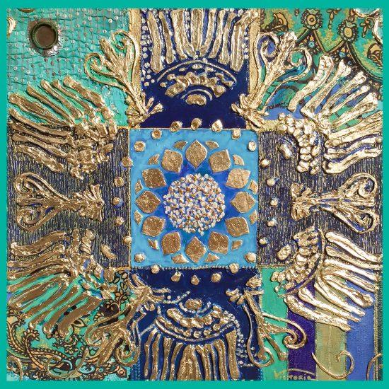 Conoces el efecto de los Mandalas.Descubre la Armonia de formas y colores en el Mandala Sol Naciente pintado a mano por Victoria Pardo Artista Plastica.
