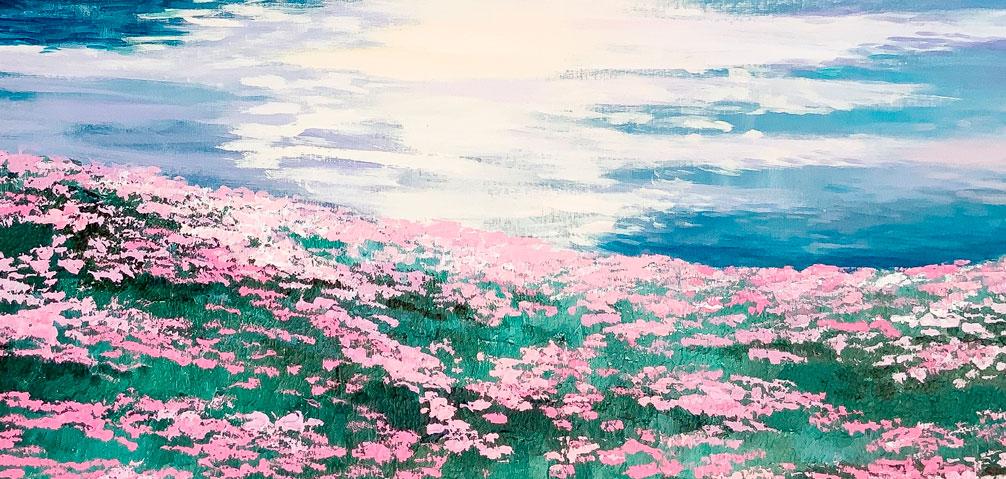 Serenidad-y-Armonía-Cuadro de la Colección-Azul-Victoria-Pardo-Artista-Plastica