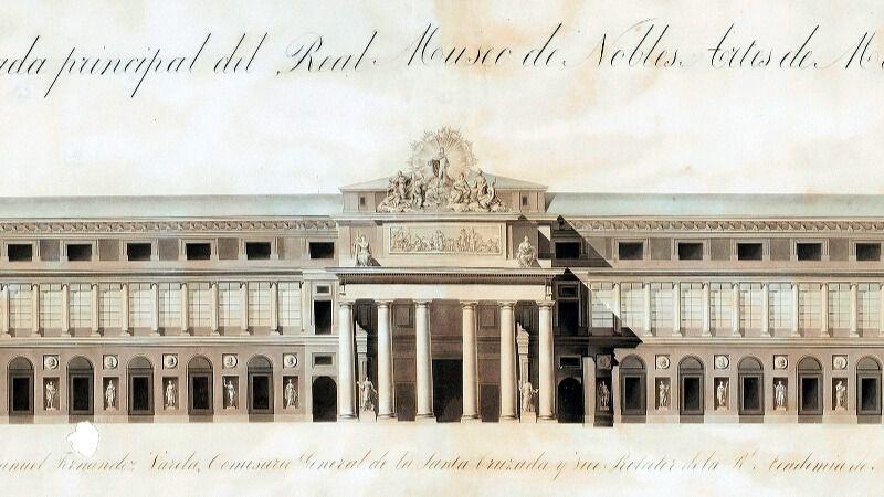 Fachada Museo del Prado- Imagen cortesía Inout Viajes - Victoria Pardo Artista Plástica