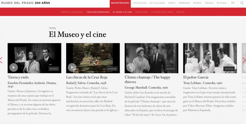 El museo y el cine -Bicentenario de la Fundación del Museo Nacional del Prado