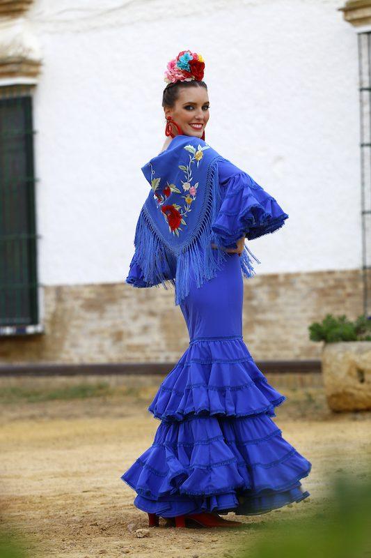 Conversaciones que Inspiran : Entrevista a la Sra. Fabiola García -Liñán por Victoria Pardo Artista Plástica - Elegancia Flamenca en azul